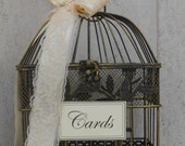 Birdcage Wedding Card Holder / Card Box / Wedding Card Box / Small Birdcage / Card Holder / Wedding / Wedding Decorations / Gift Table Decor