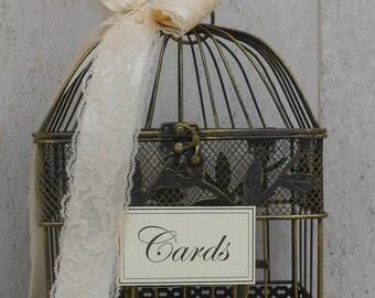 Birdcage Wedding Card Holder / Card Box / Wedding Card Box / Small Birdcage / Card Holder / Wedding / Wedding Decorations / Gift Table Decor