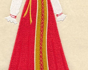 Russia Dress Form Embroidered Flour Sack Hand Towel