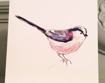 Sale Long Tailed Tit Greetings Card