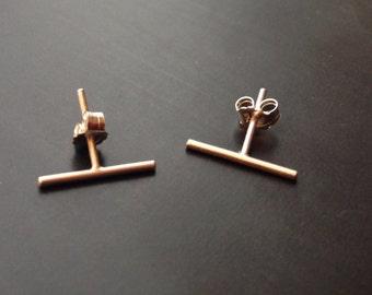 Bar Earrings, Tiny, Sterling Silver, 14K Gold Filled, Studs, Grey's Anatomy, Arizona Robbins, Small, Weddings, Handmade Jewelry, Jewellery