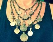 Fibula Coin Drape: 3 tier   >> single <<