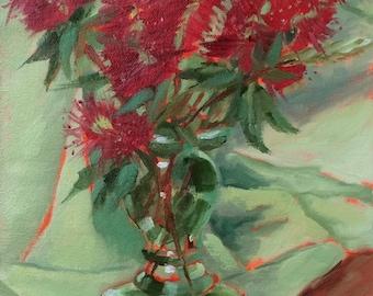 Bottle Brush • Original Art • Oil Painting • Daily Painter • Daily Painting