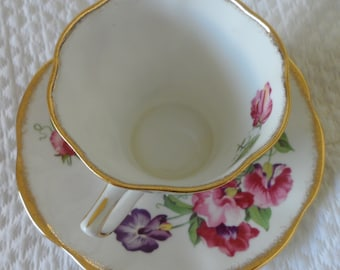 """Collectible  """"Rosina"""" eggshell porcelain tea cup and saucer"""