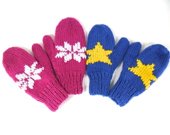 Children's Mittens - Embroidered in any design - Free Shipping