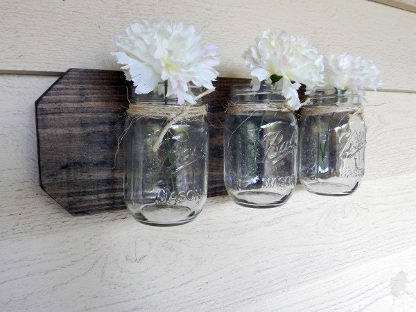 Wall Decor With Mason Jars : Mason jar decor wall home accents rustic