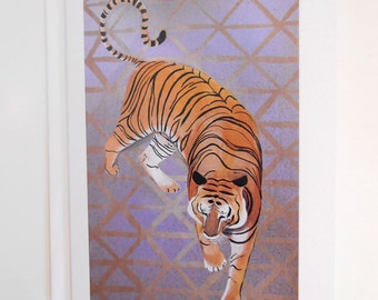 Tiger Blank Note Card