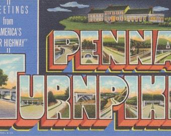 Pennsylvania Turnpike, Pennsylvania, Large Letter Postcard, Linen Postcard - Unused (VV)