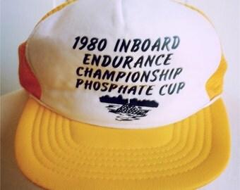 Vintage 1980s Trucker Hat - 1980 Inboard Endurance Championship Cup