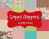 Happy Flappers Fat Quarter Bundle - Set of 21 - by Kelly Panacci and Riley Blake - FQ-4020-21
