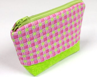 SALE - Small Makeup Bag, Cosmetic Case, Travel Bag, Zipper Pouch - READY to SHIP