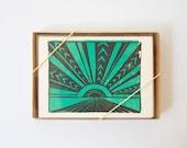 Horizon card, Turquoise