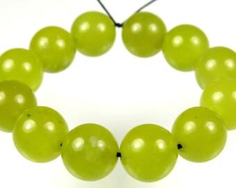 Translucent Korean Jade Round Beads - 10mm - 12 Pieces - B3261