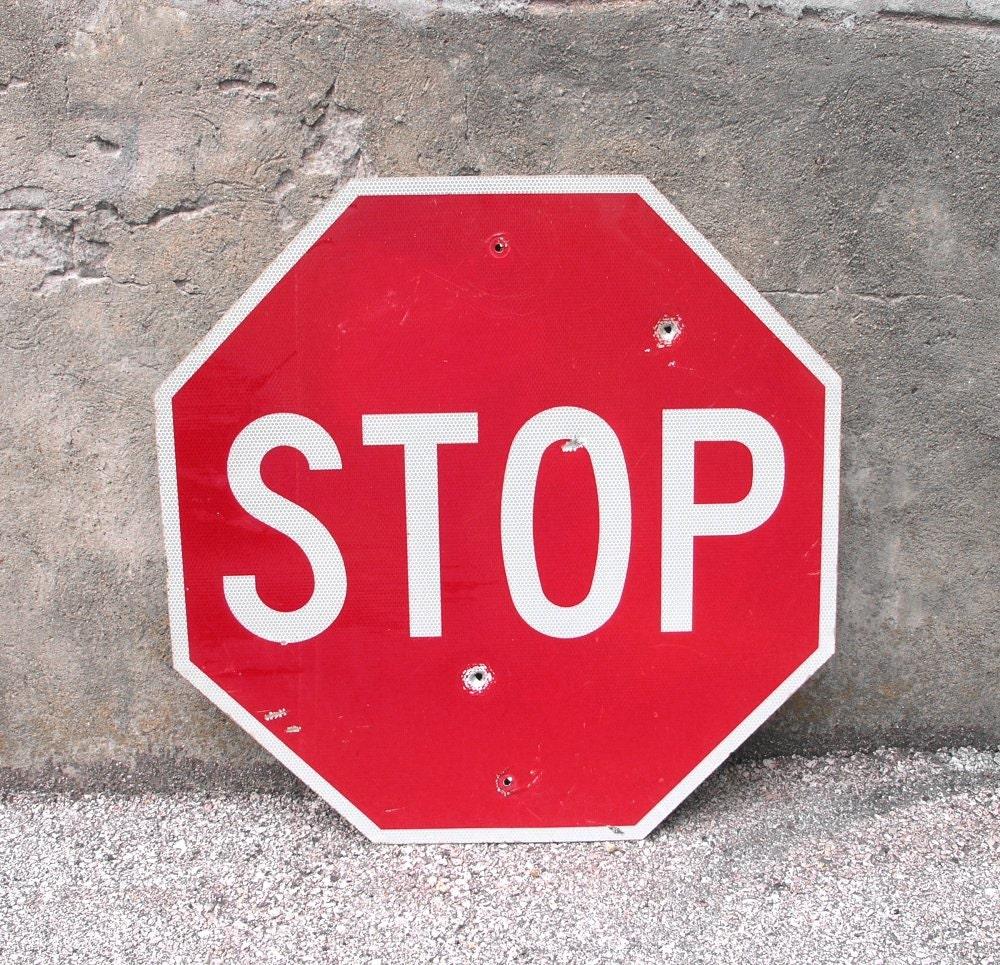 Stop Light For Garage Wall: Metal Sign Stop Traffic Road Sign Garage By IndustrialHabitat