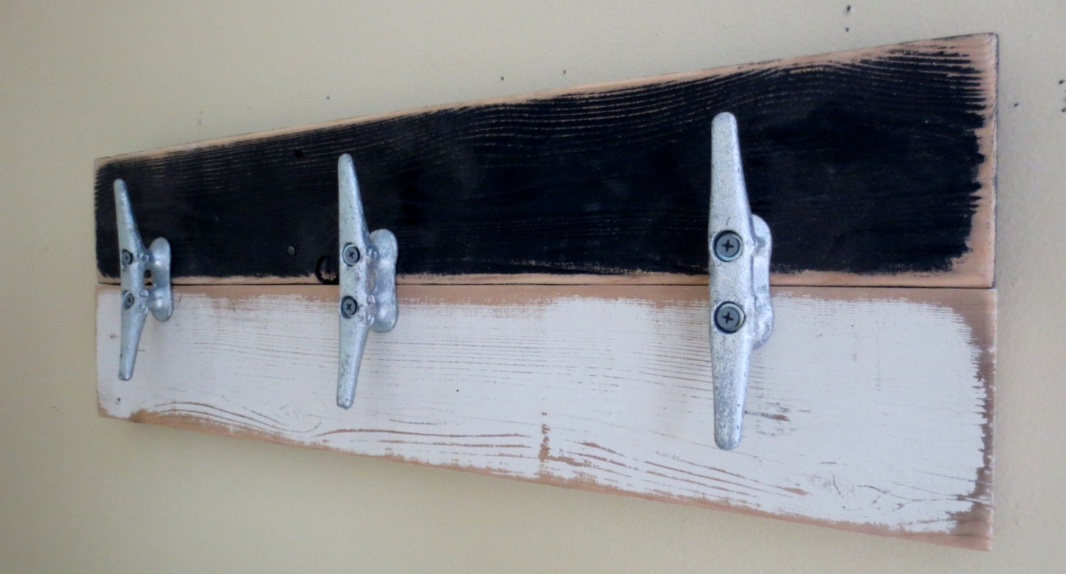 Boat Cleat Towel Hooks Nautical Decor Black By