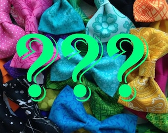 Mystery Surprise Fabric Hair Bow With Alligator Clip