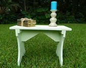 Vintage Farmhouse Bench, Stool, Side Table, Coffee Table, Rustic Shabby Bench