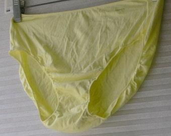 lime green jockey panties size 6