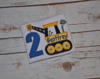 Construction Shirt Birthday Numbers or Letters