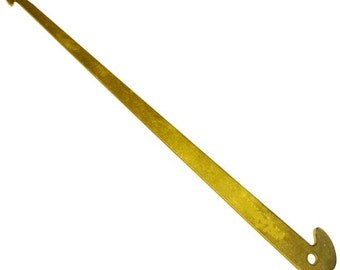 Brass Reed Heddle Hook - Threading Hook for Weaving Loom - Crochet en brasse pour ros et lisses - métier à tisser