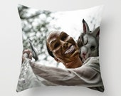 The Neighborhood Horror Dark Art Pillow Cover - NikytaGaia Photography