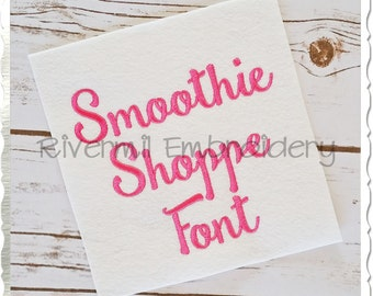 Smoothie Shoppe Machine Embroidery Font Monogram Alphabet - 3 Sizes