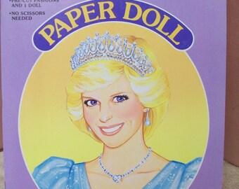 Princess Diana Paper Dolls Book Uncut from Golden Book