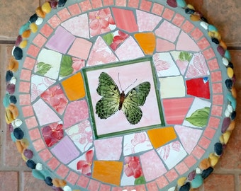 Mosaic stepping stone Mosaic wall plaque Mosaic wall decor-rdbt