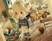 Miss yo 2015 Summer & Autumn - Vintage Hollow Pattern Sweater for Blythe / JerryBerry doll - dress / outfit - Blue