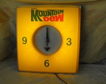 Vintage Mountain Dew Wall Clock