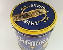 Douwe Egbert's Amphora Vintage Tobacco Tin Made in Utrecht, Holland