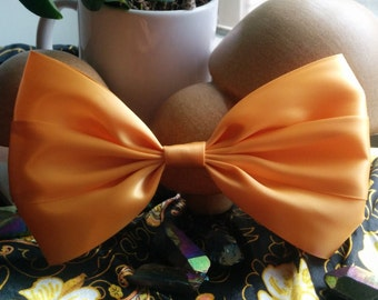 Tangerine Hair Bow. Giant Hair Bow. Light Orange Hair Bow. Orange Hair Bow. Sherbet Hair Bow. Pastel Hair Bow. Handmade Hair Bow. Cute Bow.