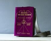 Book Bag Dumas Purple and Gold Three Musketeers Felt Purse