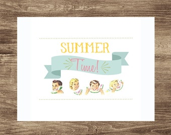 Summer Time 8x10 printable