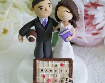 Custom Cake Topper- Scrabble love!