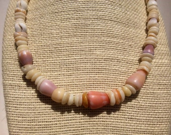 Puka Shell Necklace Shell Necklace Shell Lei Kauai  Shells Endemic Kauai Made Hawaiian Style Gathered Eco Freindly Endangered reef Gems