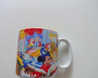 Vintage Walt Disney Mickey Mouse Coffee Mug 1990