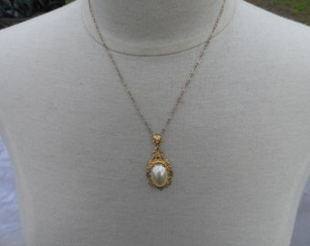 GOLD PEARL necklace VICTORIAN necklace bridal necklace wedding jewelry bridal jewelry bridesmaid accessories bridal accessories