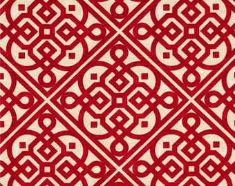 Two 26x26 Custom Pillow Covers Euro - Trellis Tile -Waverly Lace It Up - Scarlet Red