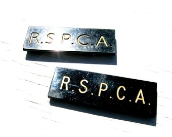 2 x Vintage RSPCA Badges