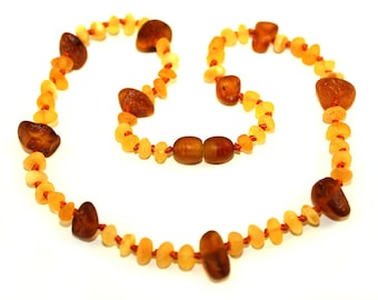 Raw NATURAL BALTIC AMBER Unique Teething Necklace