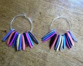 Bright Coconut Fringe Earrings