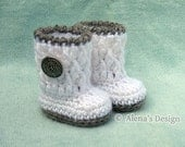 Crochet Pattern 124 - Crochet Boot Pattern for 18 inch Doll - Crochet Patterns - Silver Button Boots for American Girl - 18 in Dolls Outfit