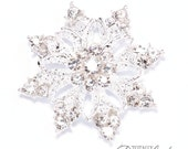 40pcs Crystal Snow Flakes, Wholesale Rhinestone Snowflake Embellishments Perfect for Winter Wedding Invitations and Crafts, Flat Back 541-S