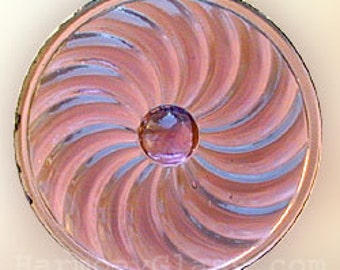 Amethyst Pinwheel Stained Glass Jewel 50mm