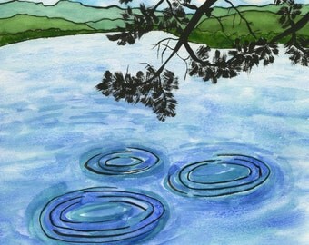 185. art card - peaceful ripples - set of any 6 designs