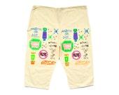 Rare 80s Neon Radical Skater Natural Cotton Flood Pants - 24 to 42