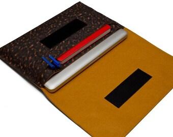 """13"""" MacBook Air case, Leopard sleeve, 13"""" Apple Macbook Bag, MacBook Air 11 inch case - Leopard & Fulvous"""