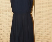 Vintage 1950-1960s Black Synthetic Semi Formal Cocktail Dress Excellent Used Size S/M, Forever Young by Puritan