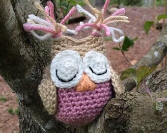 Crochet stuffed 2 colored owl